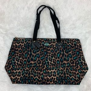Coach Large Tote With Pouch Cheetah Leopard Bag